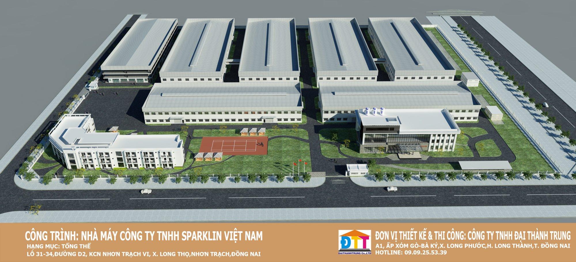 Công trình SPARKLIN - Khu công nghiệp nhơn trạch 6